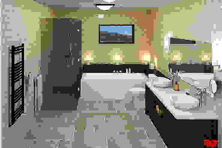 Moderne badkamer, overzicht. Moderne badkamers van 3DDOC Modern