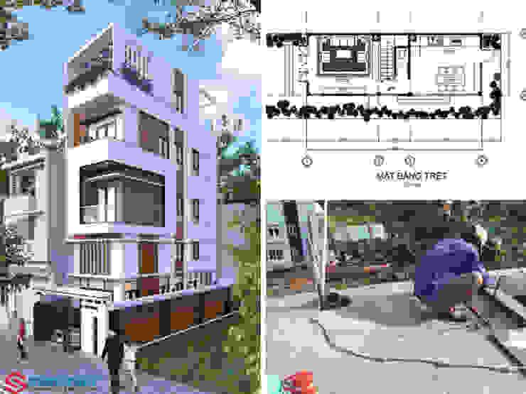 Không xây dựng hết đất để tạo sự thông thoáng và tiết kiệm chi phí xây dựng Công ty Thiết Kế Xây Dựng Song Phát Tòa nhà văn phòng