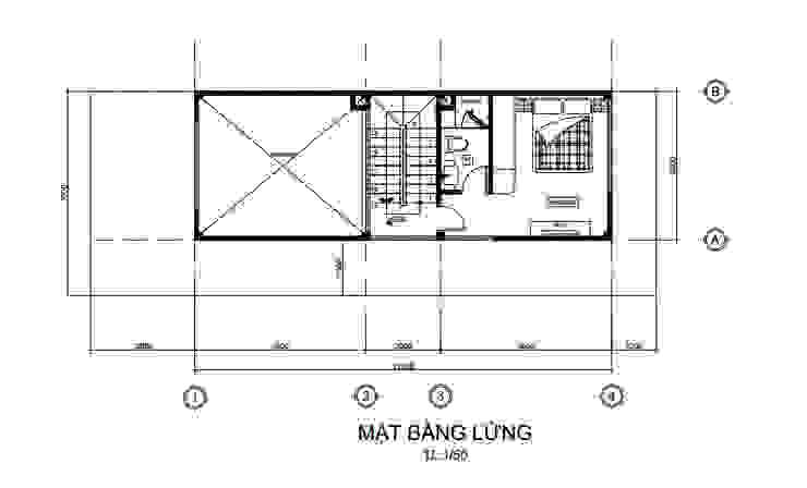 Bố trí mặt bằng tầng lửng Công ty Thiết Kế Xây Dựng Song Phát Tòa nhà văn phòng