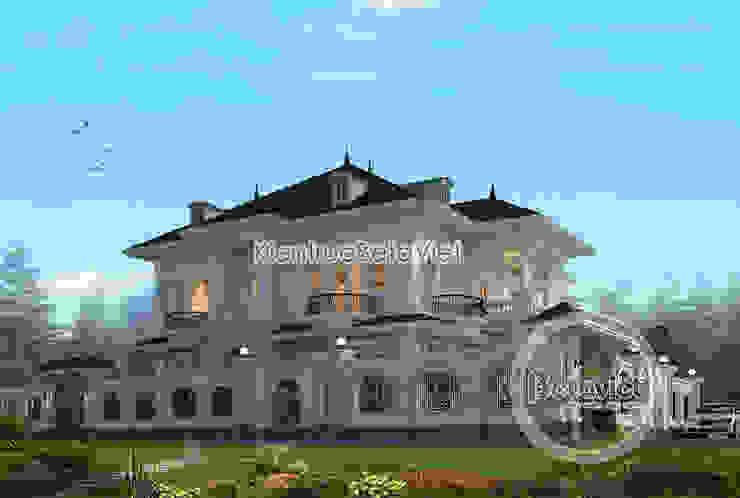 Phối cảnh biệt thự 2 tầng phong cách châu Âu đặc trưng (CĐT: Ông Thủy - Phú Thọ) KT18078 bởi Công Ty CP Kiến Trúc và Xây Dựng Betaviet
