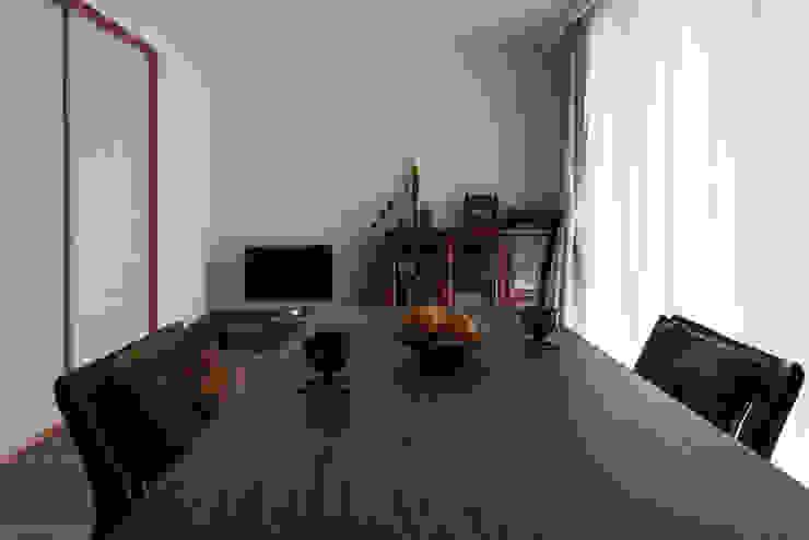 Modern dining room by 中山建築設計事務所 Modern Wood Wood effect