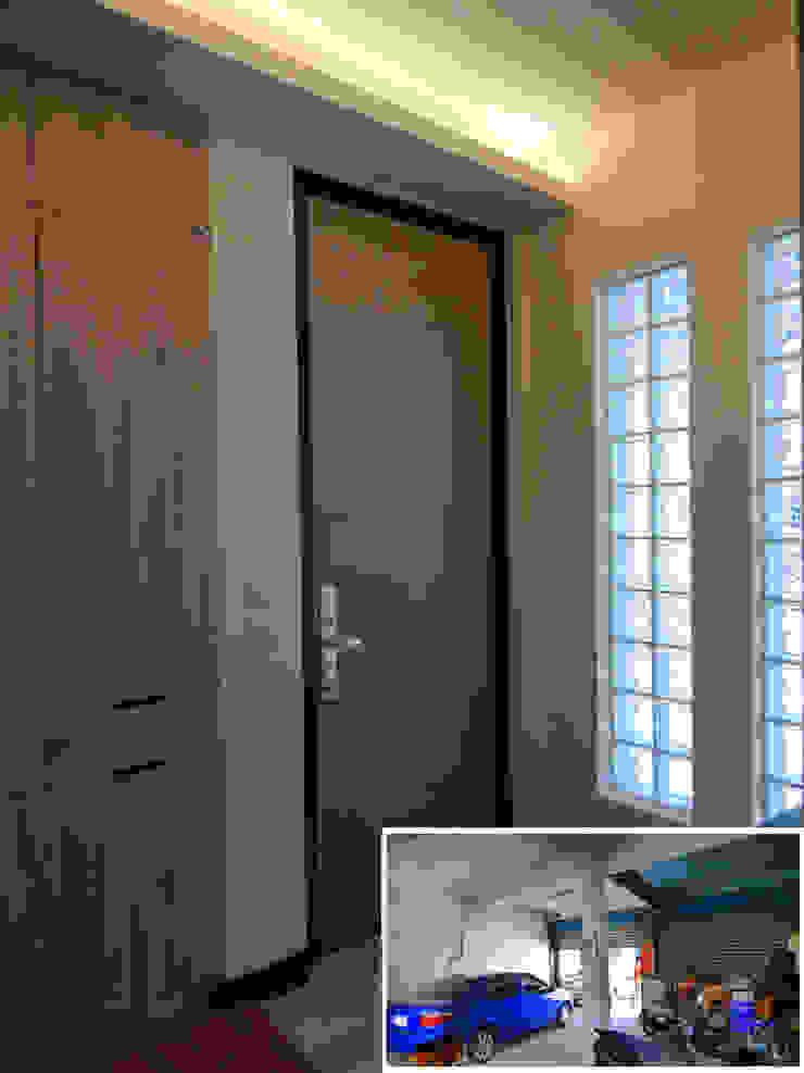 玄關/歐式系統家具/日式人文/老屋翻新 隨意取材風玄關、階梯與走廊 根據 木博士團隊/動念室內設計制作 隨意取材風