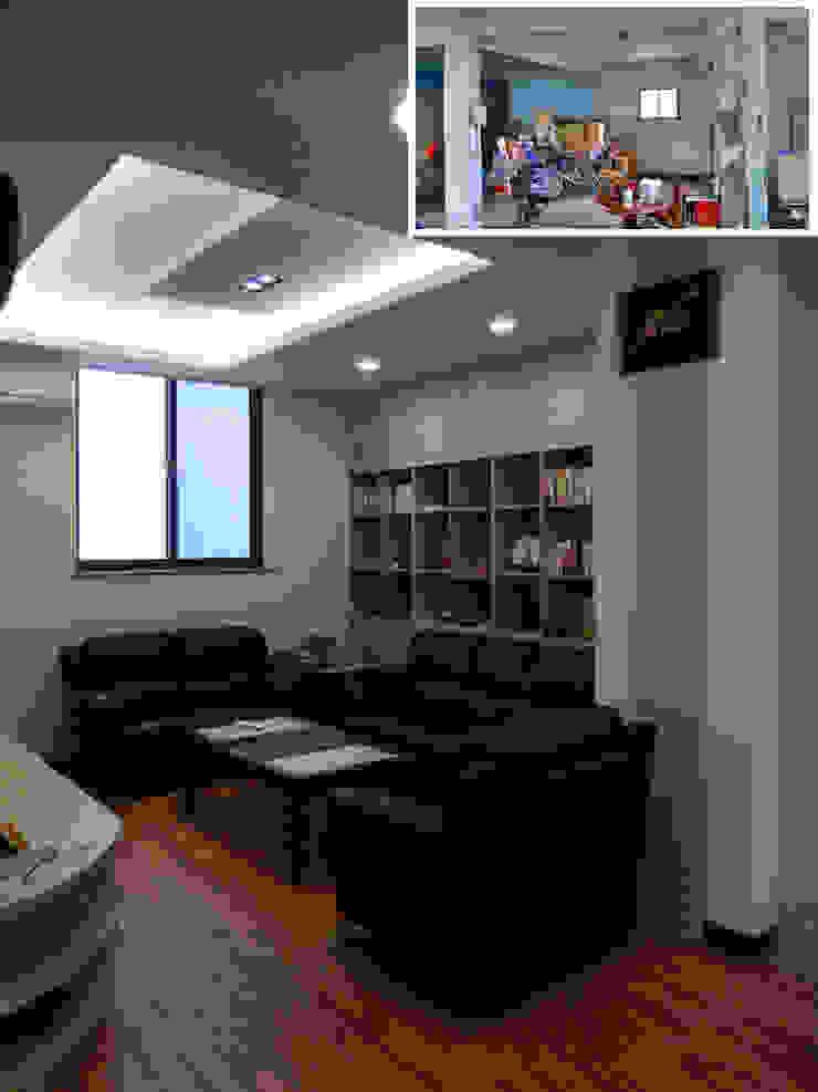 客廳/歐式系統家具/日式人文/老屋翻新 根據 木博士團隊/動念室內設計制作 隨意取材風