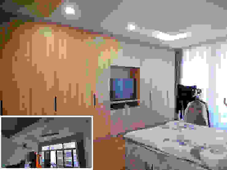 主臥/臥室/歐式系統家具/日式人文/老屋翻新 根據 木博士團隊/動念室內設計制作 隨意取材風