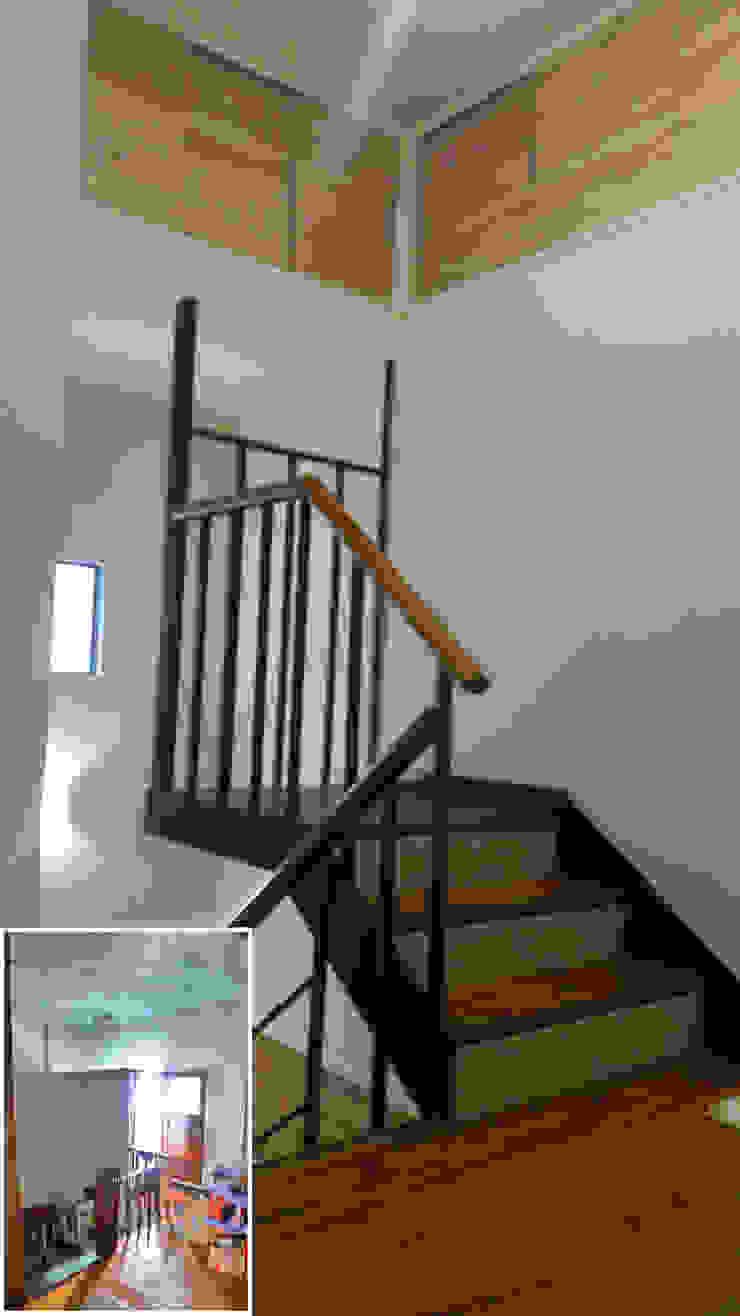 樓梯/鐵件/把手/日式人文/老屋翻新 根據 木博士團隊/動念室內設計制作 隨意取材風