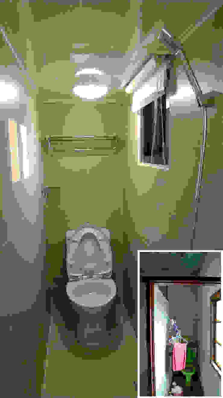 浴室/衛浴/老屋翻新 根據 木博士團隊/動念室內設計制作 隨意取材風