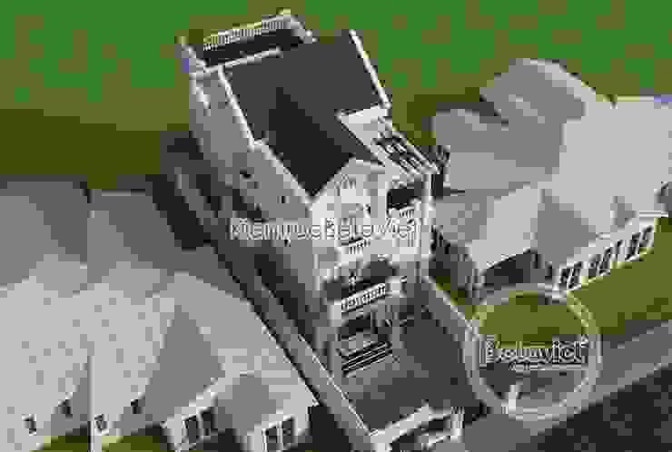 Phối cảnh mẫu biệt thự phố 3 tầng mặt tiền 10m cực đẹp (CĐT: Ông Thế - Nam Định) KT18081 bởi Công Ty CP Kiến Trúc và Xây Dựng Betaviet