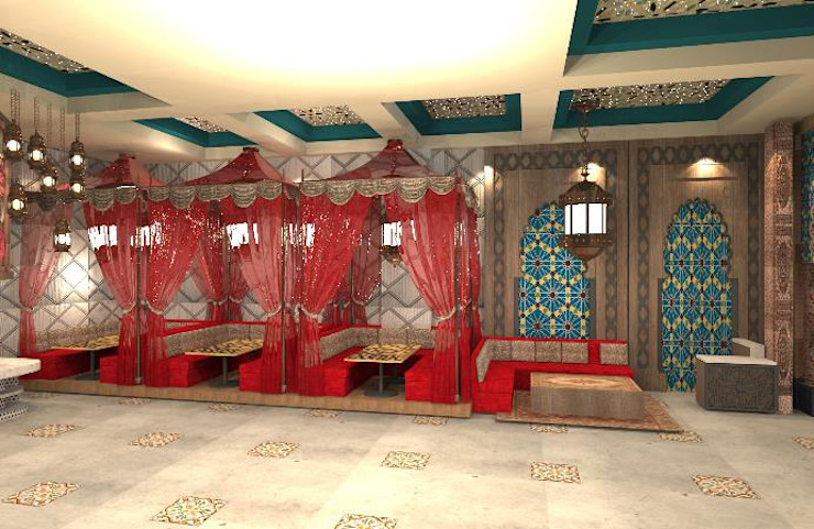 Provide conceptual design for Client on New F&B set up Asian style dining room by Atmosphere Axis Sdn Bhd Asian
