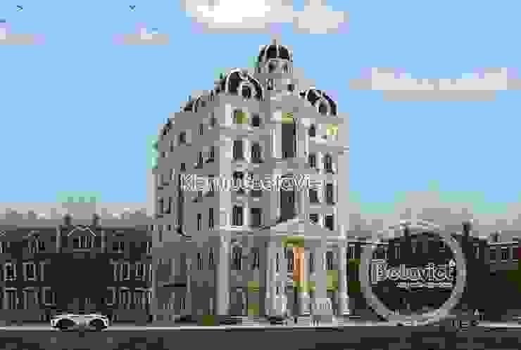Phối cảnh siêu biệt thự kết hợp kinh doanh và nhà ở (CĐT: Bà Hà - Hưng Yên) KT18024 bởi Công Ty CP Kiến Trúc và Xây Dựng Betaviet