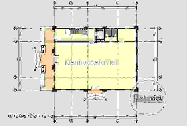 Mặt bằng tầng 1 siêu biệt thự kết hợp kinh doanh và nhà ở (CĐT: Bà Hà - Hưng Yên) KT18024 bởi Công Ty CP Kiến Trúc và Xây Dựng Betaviet