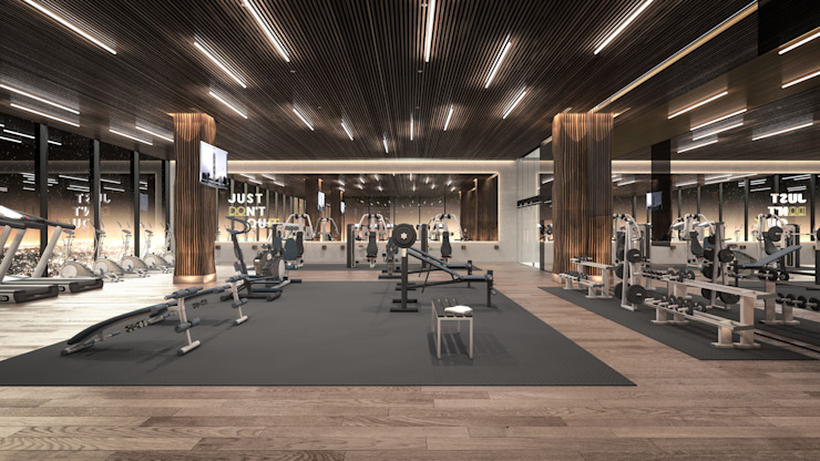 Modern gym by Rapzzodia Interiorismo Modern Wood Wood effect