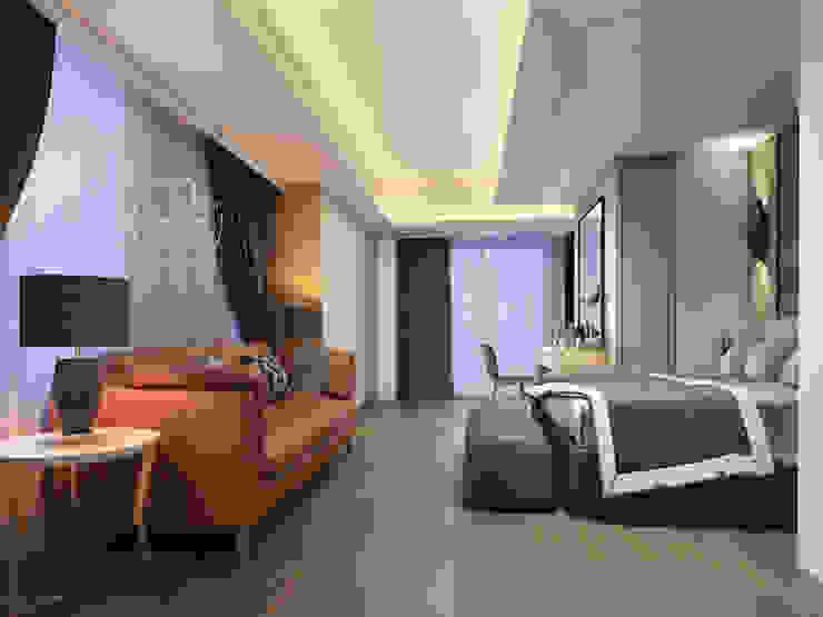 主臥/臥室/歐式系統傢俱/奢華風 根據 木博士團隊/動念室內設計制作 現代風