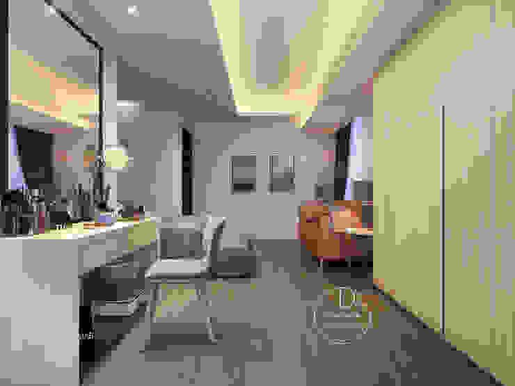 主臥/臥室/歐式系統傢俱/化粧檯/奢華風 根據 木博士團隊/動念室內設計制作 現代風
