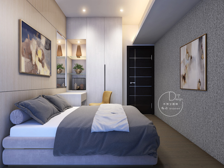 臥室/客房/歐式系統傢俱/化粧檯/奢華風 根據 木博士團隊/動念室內設計制作 現代風