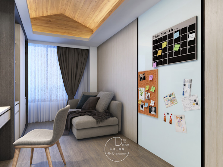 小木屋/書房/歐式系統傢俱/辦公空間/書櫃/化粧檯/奢華風 根據 木博士團隊/動念室內設計制作 現代風