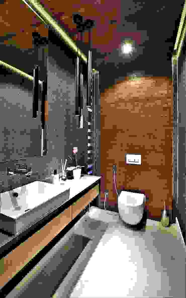 Phòng tắm phong cách hiện đại bởi JSD Interiors Hiện đại Gỗ Wood effect