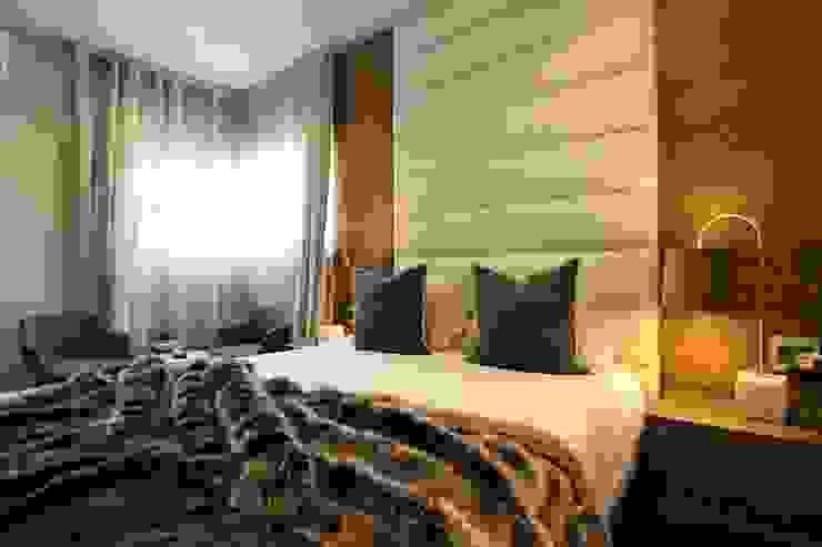 Bedroom design JSD Interiors Modern style bedroom Wood Beige