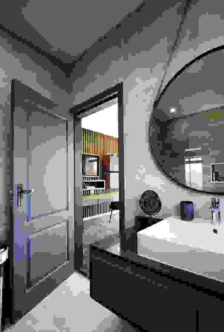 Phòng tắm bởi JSD Interiors Công nghiệp Bê tông