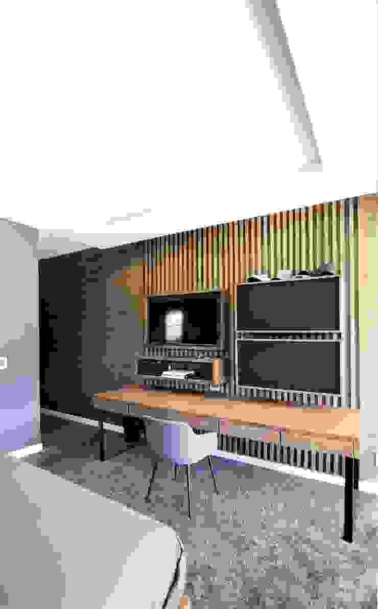 Phòng học/văn phòng phong cách công nghiệp bởi JSD Interiors Công nghiệp Gỗ Wood effect