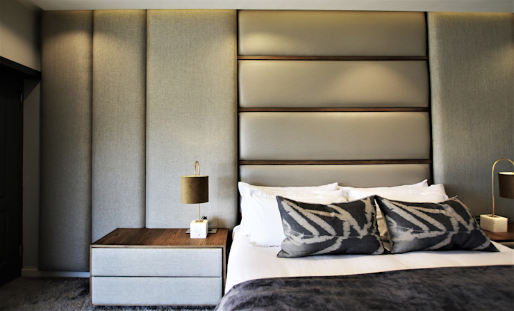 Phòng ngủ phong cách hiện đại bởi JSD Interiors Hiện đại Ván ép