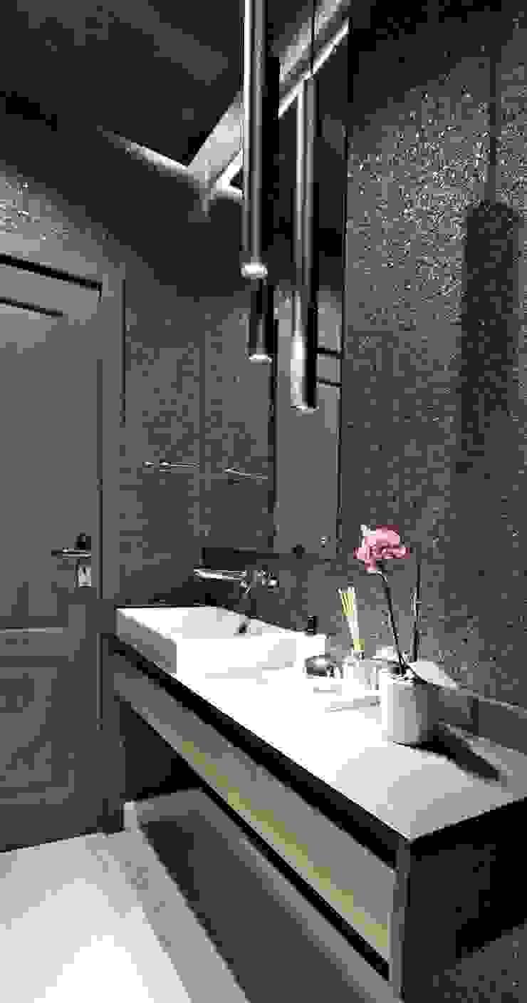 Guest Bathroom JSD Interiors Minimalist style bathroom Wood Black