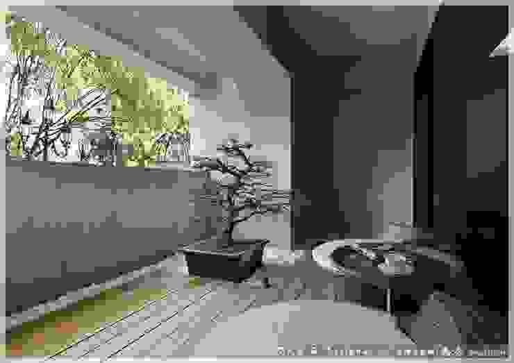Hiên, sân thượng by 木博士團隊/動念室內設計制作
