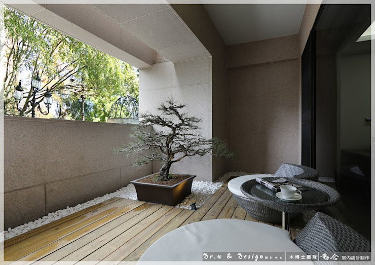 Terrazas de estilo  por 木博士團隊/動念室內設計制作