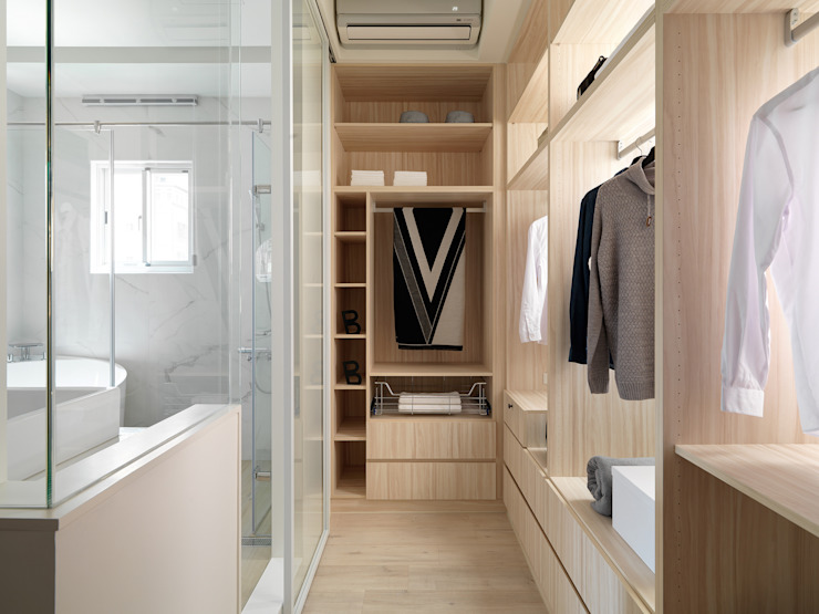 Phòng thay đồ phong cách Bắc Âu bởi 寓子設計 Bắc Âu