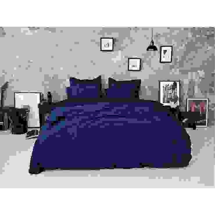 Sateen Duvet Set - Navy: scandinavian  by Bedroommood, Scandinavian Cotton Red
