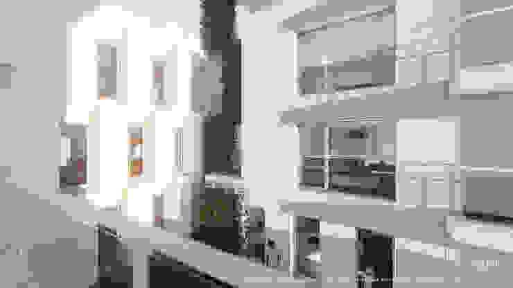 Jardim vertical em fachada de edifício de apartamentos Casas minimalistas por OGGOstudioarchitects, unipessoal lda Minimalista