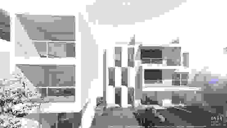 Volumes brancos de projecto habitacional Casas minimalistas por OGGOstudioarchitects, unipessoal lda Minimalista