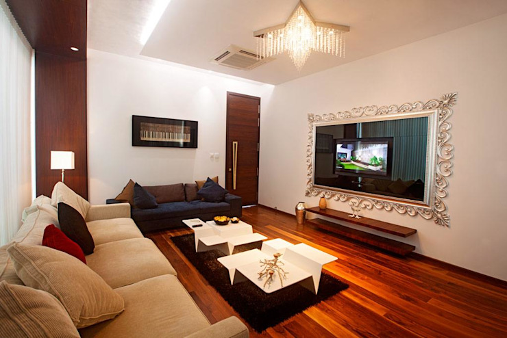 Living room Layout ideas Modern living room by Innerspace Modern