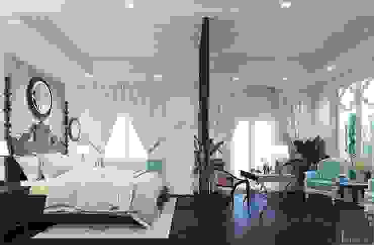 Thiết kế biệt thự theo phong cách Đông Dương – Vẻ đẹp giá trị thời gian Phòng ngủ phong cách châu Á bởi ICON INTERIOR Châu Á