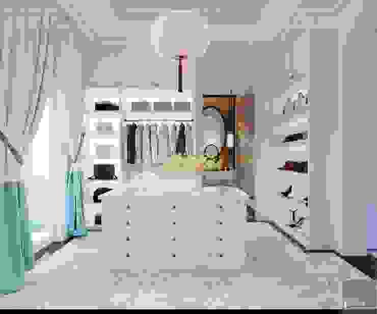 Thiết kế biệt thự theo phong cách Đông Dương – Vẻ đẹp giá trị thời gian Phòng thay đồ phong cách châu Á bởi ICON INTERIOR Châu Á
