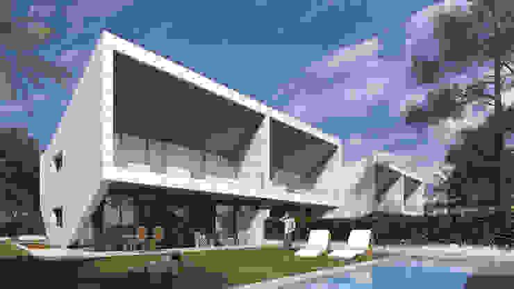 Houses by ARQZONE 3D+Design Studio, Modern Limestone