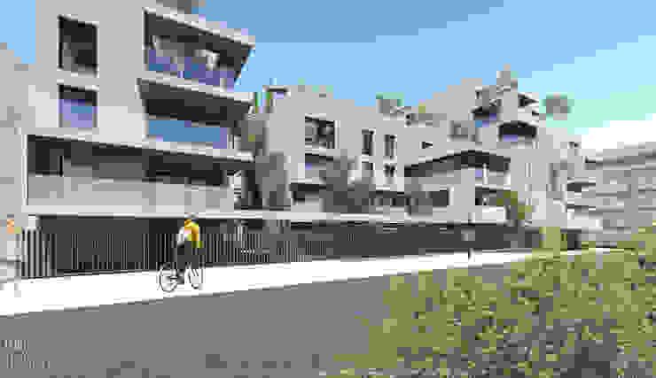 Fachada de edifício de habitação colectiva - Rua Du Camp por OGGOstudioarchitects, unipessoal lda Moderno