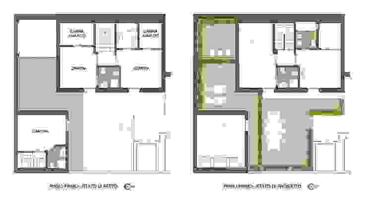 PIANO PRIMO - STATO DI FATTO E STATO DI PROGETTO di Studio Architettura Macchi