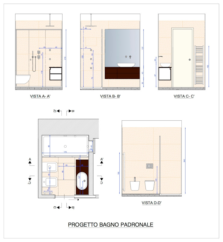PROGETTO BAGNO PADRONALE di Studio Architettura Macchi