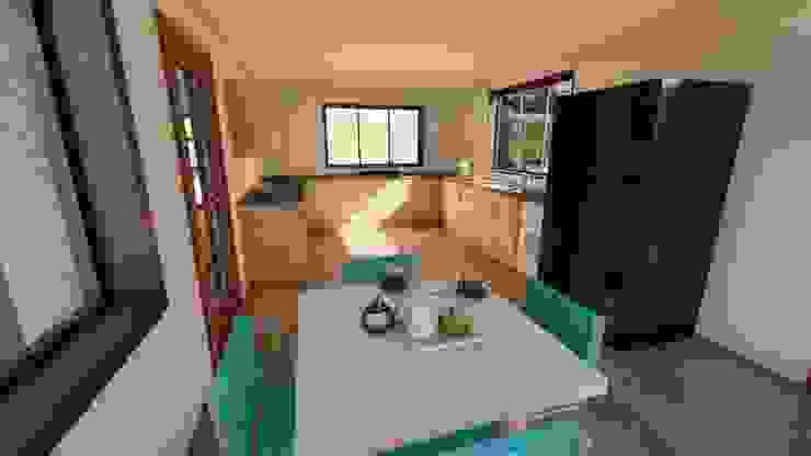 Interior cocina y comedor diario Cocinas de estilo clásico de Ekeko arquitectura - Coquimbo Clásico Tablero DM