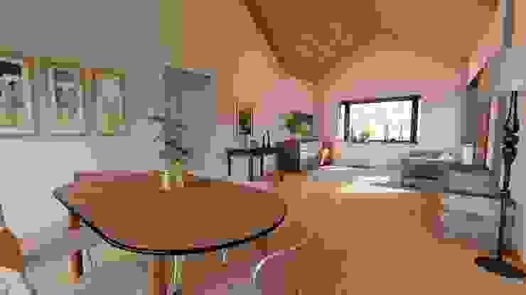 interior Sala Estar y Comedor Comedores de estilo rústico de Ekeko arquitectura - Coquimbo Rústico Derivados de madera Transparente