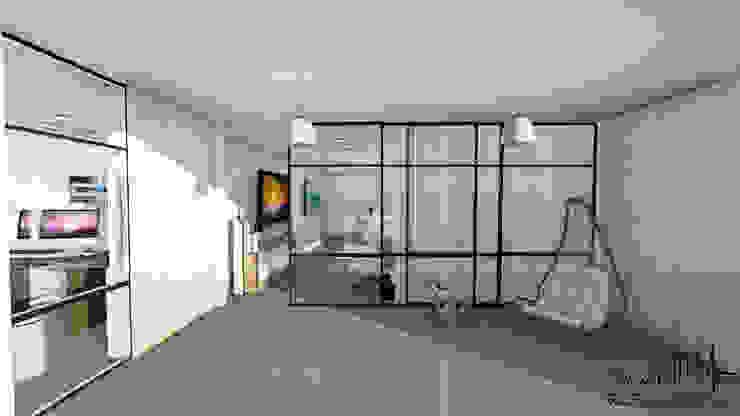 Remodelacion y diseño interior para apartamento Vida Arquitectura Techos planos