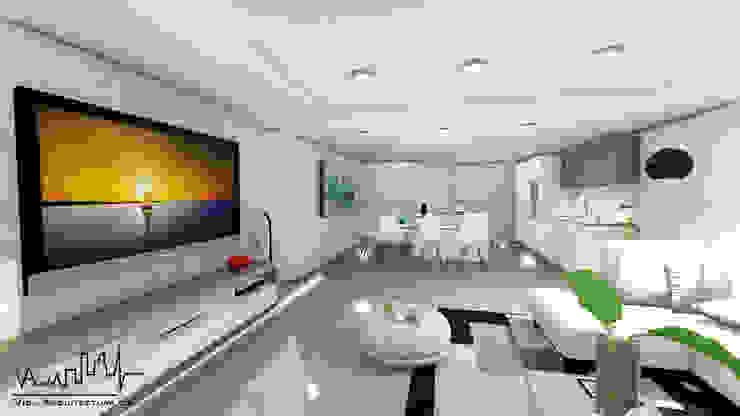 Remodelacion y diseño interior para apartamento Vida Arquitectura Sala multimediaMobiliario