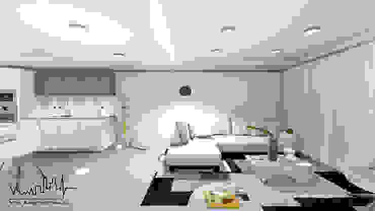 Remodelacion y diseño interior para apartamento Vida Arquitectura Salas/RecibidoresMuebles para televisión y equipos