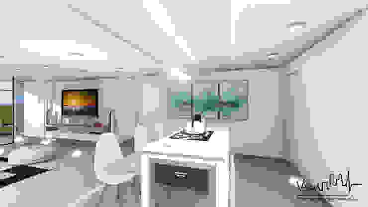 Remodelacion y diseño interior para apartamento Vida Arquitectura CocinaMesadas de cocina