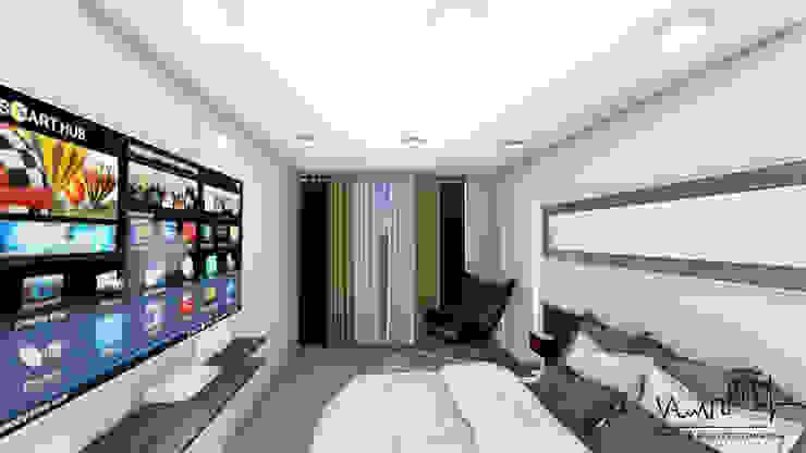 Remodelacion y diseño interior para apartamento Vida Arquitectura DormitoriosCamas y cabeceras