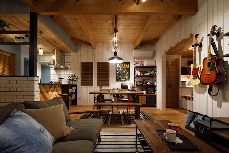 Eclectic style living room by dwarf Eclectic