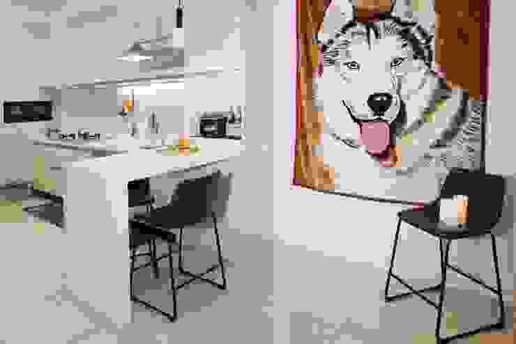 Scandinavian style dining room by 酒窩設計 Dimple Interior Design Scandinavian Wood-Plastic Composite