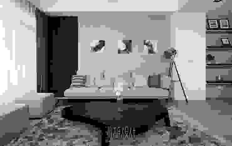 和風感十足的客廳風格 根據 湘頡設計 簡約風
