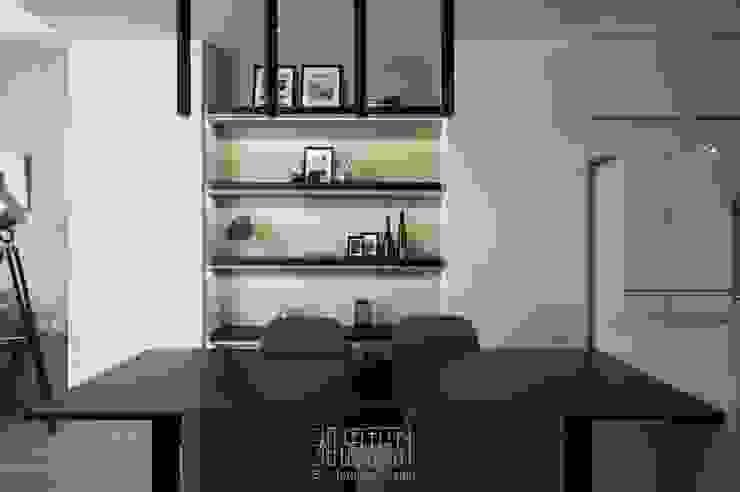 開放式餐廚區 根據 湘頡設計 簡約風