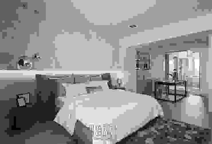 飯店感的寬敞寢室 根據 湘頡設計 簡約風